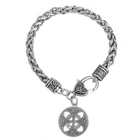Браслет цепь с амулетом Кельтский крест