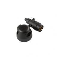 RK09033 * Разъем проводки прицепа европейского типа в сборе (розетка, вилка; 7 контактов)