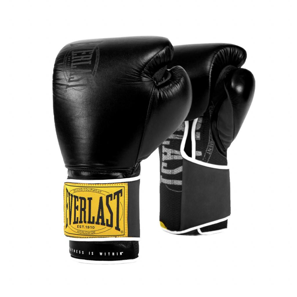 Перчатки тренировочные Everlast  1910 Classic 14oz чёрные, артикул P00001711