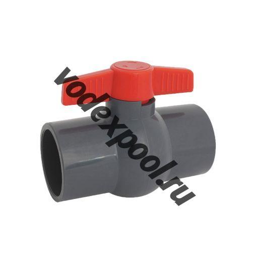 Кран шаровый ПВХ (неразборный) 40 мм