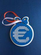 Сувенир, украшение на елку, оригинальная новогодняя игрушка. ЗНАК ЕВРО
