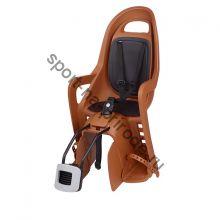 Заднее велокресло Polisport Groovy Maxi FF темно-оранжевый/черный