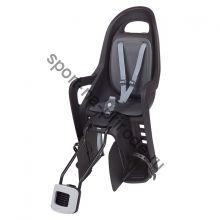 """Заднее велокресло Polisport Groovy Maxi FF 29"""" черный/серый"""