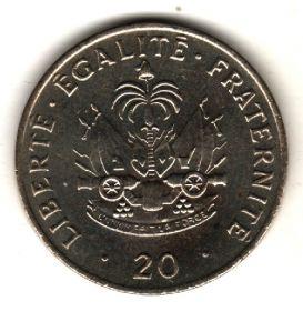 Гаити 20 сантимов 1991