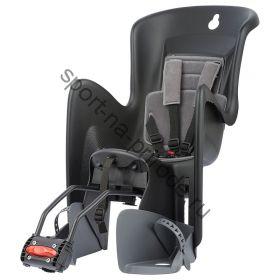 Заднее велокресло Polisport BILBY MAXI RS черный/серый