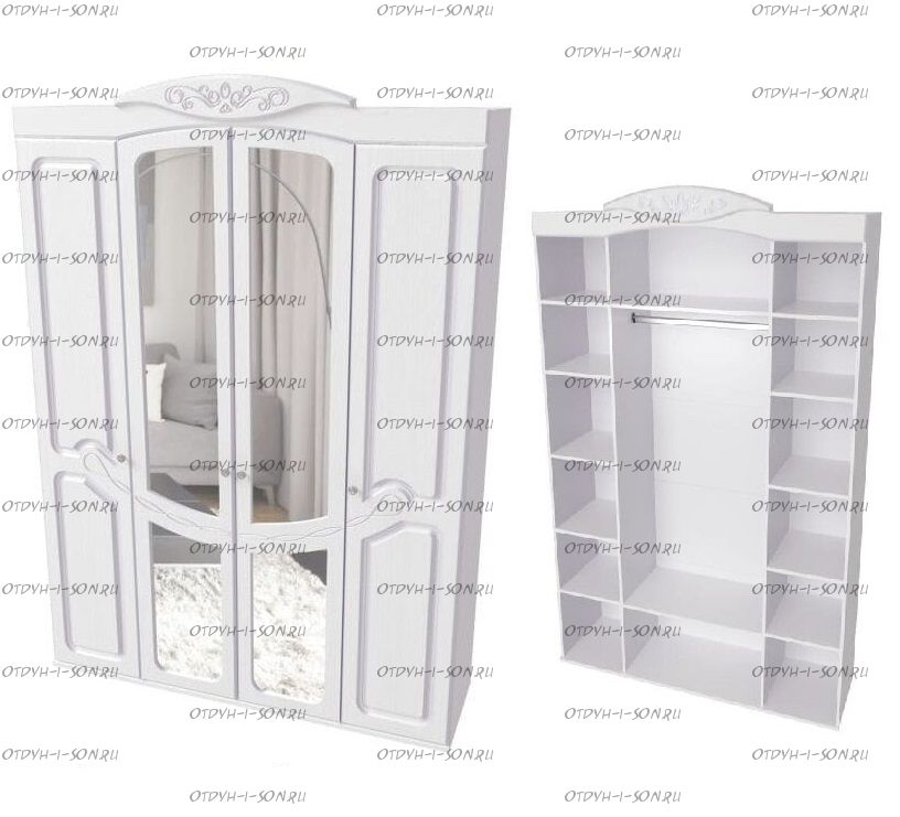 Шкаф четырехдверный Филадельфия ШК-06 (1602х476х2277)