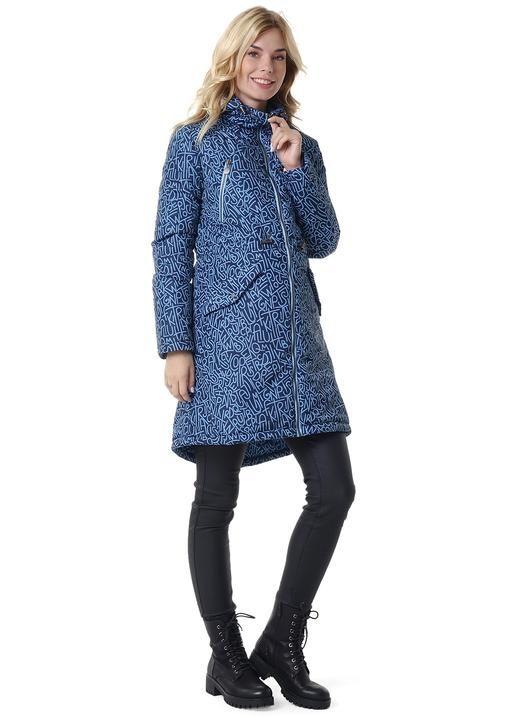 """Куртка демис 2в1 """"Мэрил"""" для беременных буквы на синем"""