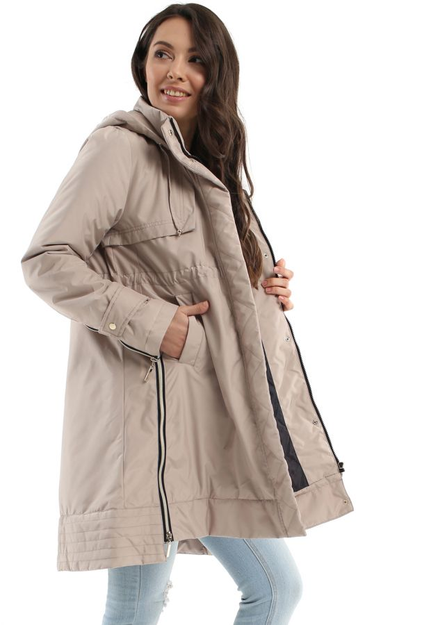 """Куртка демис 2в1 """"Ливерпуль"""" для беременных и кормящих бежевая"""