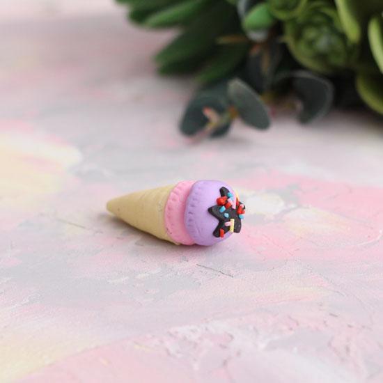 Кукольный аксессуар Мороженое с посыпкой, 4 см.