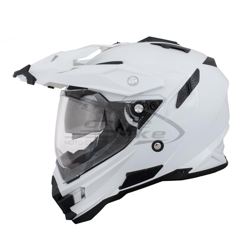 THH Мотошлем TX-27 SOLID, цвет Белый
