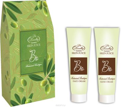 Парфюмерно-косметический подарочный набор Botanical Boutique Liss Kroully Skin juice Крем для рук 75 мл + Крем для лица 75 мл