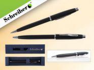Ручка шариковая металлическая в футляре, синие чернила, черн. корп. (арт. s 2822)