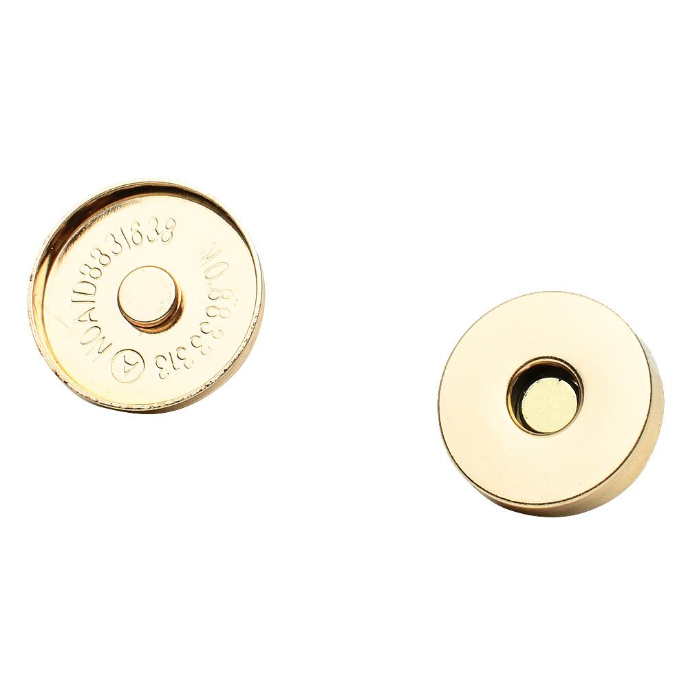 Магнитная кнопка 18 мм золото