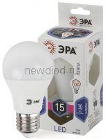 Лампы СВЕТОДИОДНЫЕ СТАНДАРТ LED A60-15W-860-E27  ЭРА (диод, груша, 15Вт, хол, E27)