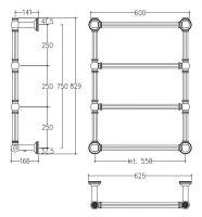 Полотенцесушитель электрический Margaroli Armonia 9-512/R схема 1