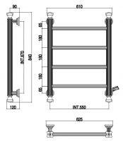 Полотенцесушитель электрический Margaroli Capitelli 2-952 J схема 1