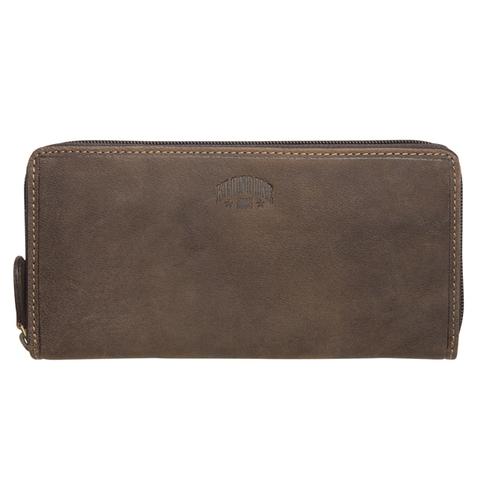 Кожаный женский бумажник Klondike Mary, коричневый