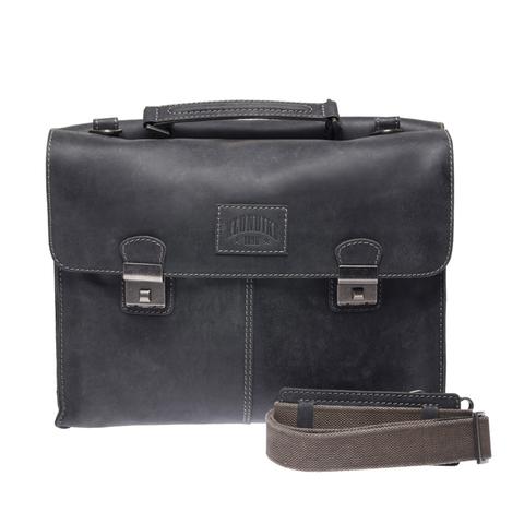Кожаный мужской портфель Klondike Native, черный
