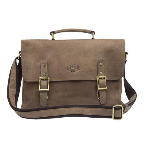Кожаная сумка-мессенджер Klondike Bill, коричневая