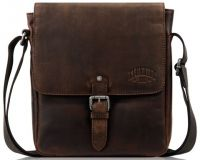 Мужская кожаная сумка через плечо с клапаном Klondike Digger Erin, темно-коричневая