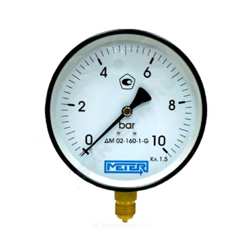 Манометр ДМ02-160 радиальный Дк160мм 0-0,6 кгс/см2 М20х1,5 Метер