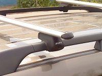 Багажник на рейлинги Mitsubishi Pajero Sport 2008-16, Атлант, аэродинамические дуги