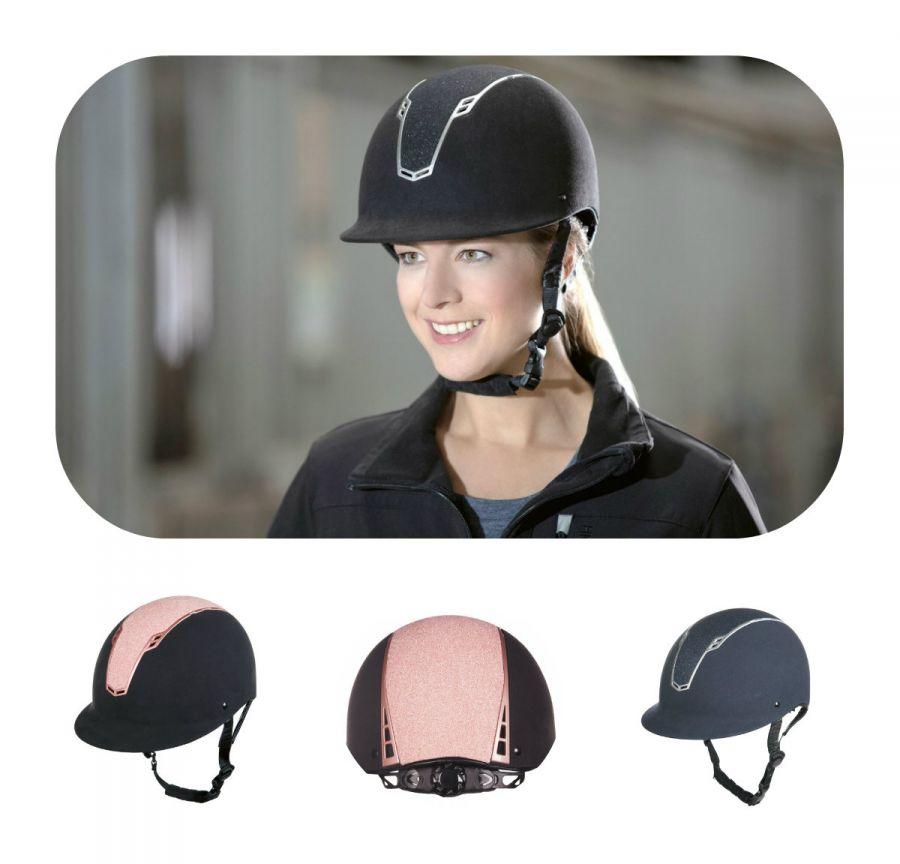 Шлем (жокейка) -Graz- Контрастная, цветная отделка.