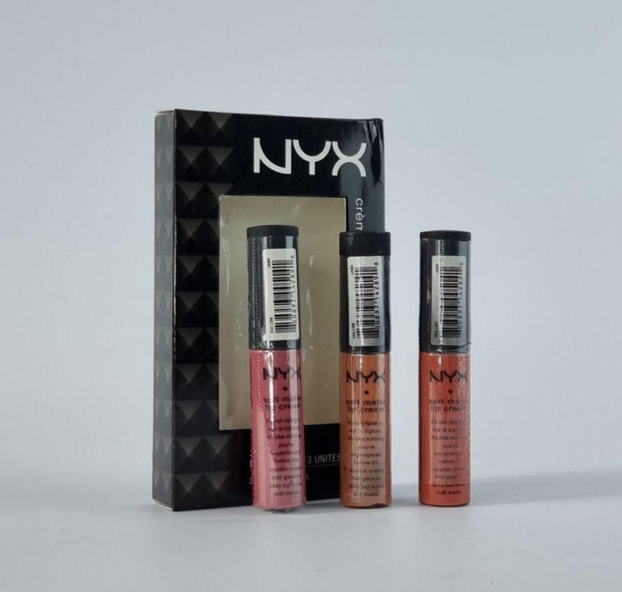 Блеск для губ NYX Soft Matte Lip Cream 3-Piece Set