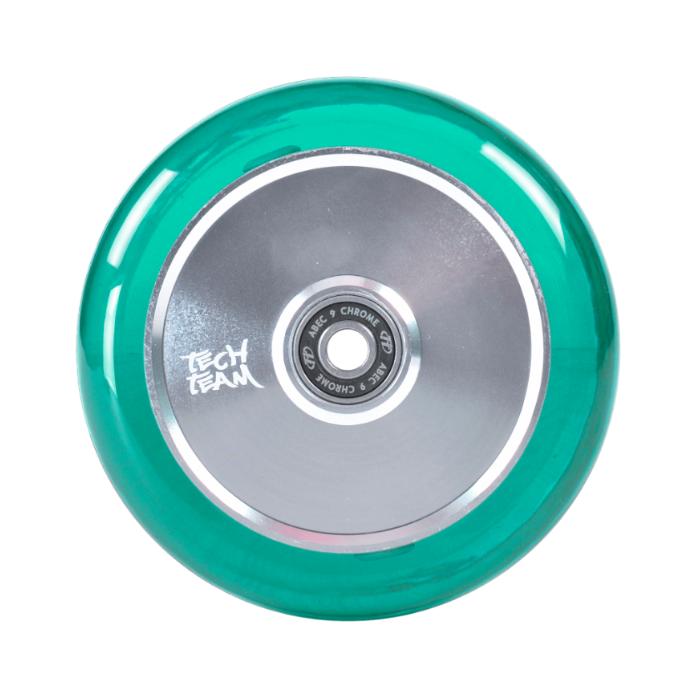 Колесо TechTeam TH 110мм прозрачный/зеленый