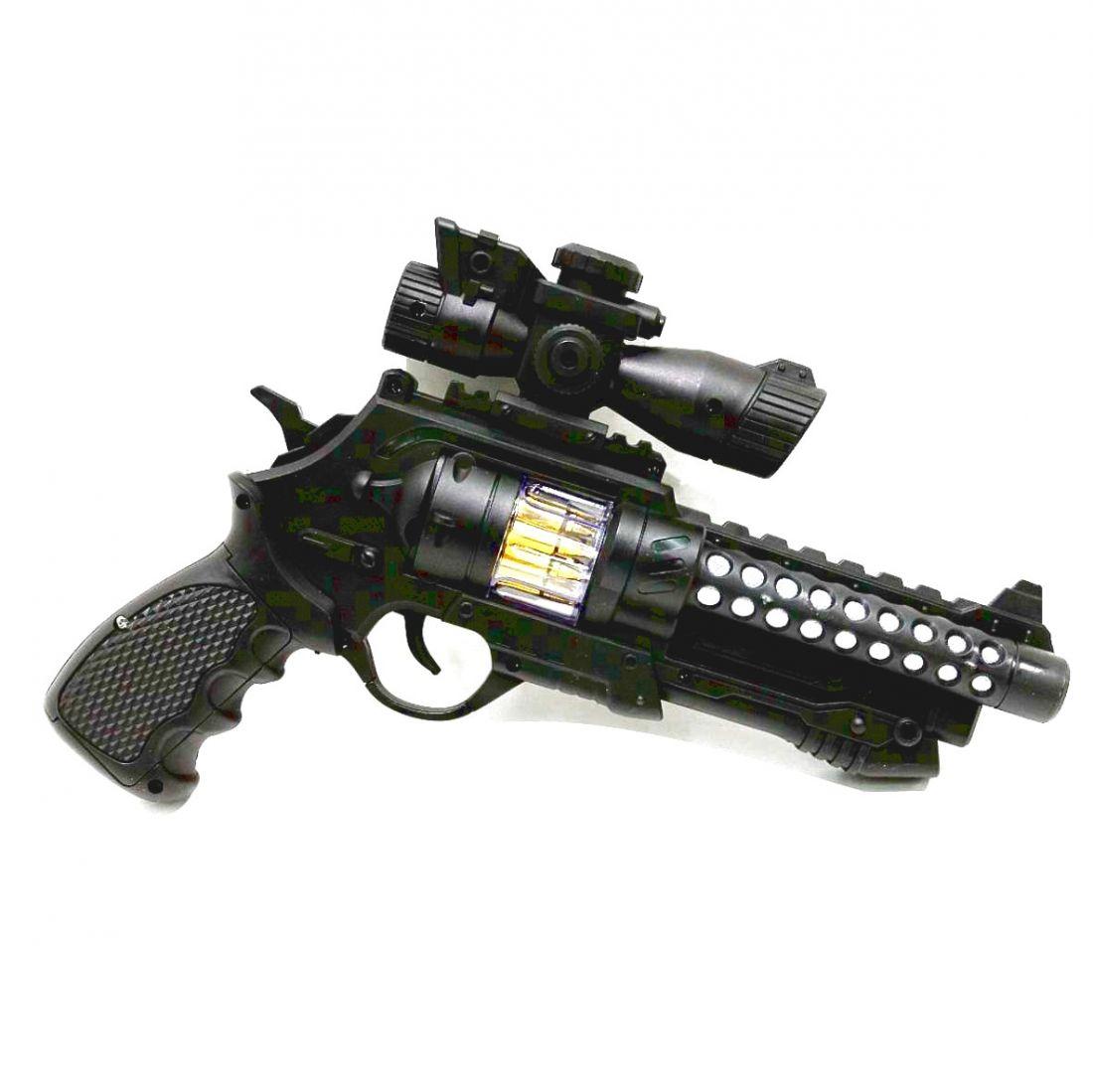 Пистолет игрушечный, электронный, со светом и звуком