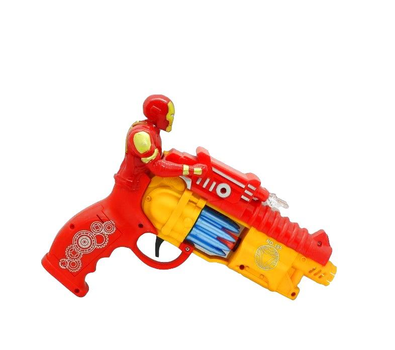 Пистолет Железный человек со светом и звуком