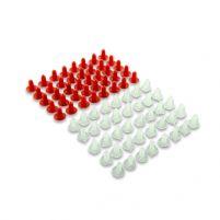 RK14023 * 2108-6102053 * Пистон крепления обивки двери для а/м 2108-21099, 2113-2115, 2110-2112, 1117-1119, 2192, 2194, 21213, 2123 бесшумный двойной (компл. 40 пар)