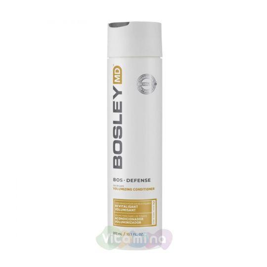 BOSLEY MD Кондиционер для предотвращения истончения и выпадения волос BOSDefense Color Safe Volumizing Conditioner, 300мл.