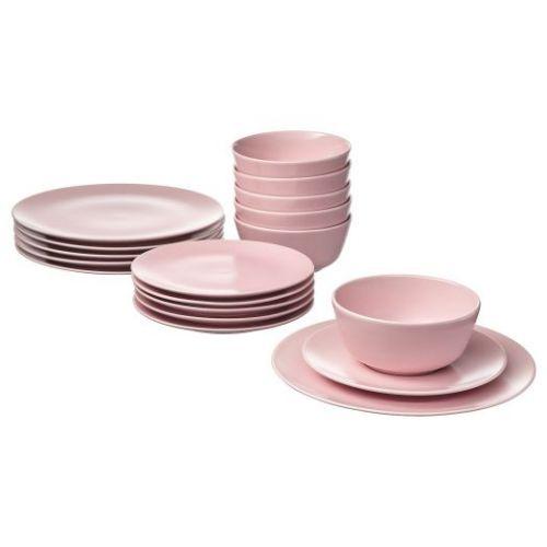 DINERA ДИНЕРА, Сервиз,18 предметов, светло-розовый - 704.114.80