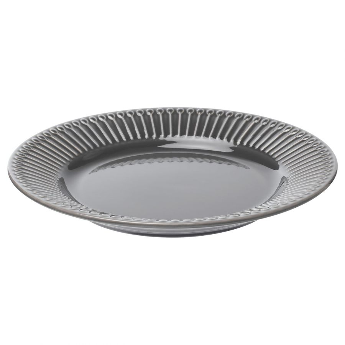 STRIMMIG СТРИММИГ, Тарелка десертная, каменная керамика серый, 21 см - 004.431.92