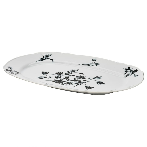 UPPLAGA УППЛАГА, Блюдо, белый/с рисунком, 44x30 см - 004.737.68
