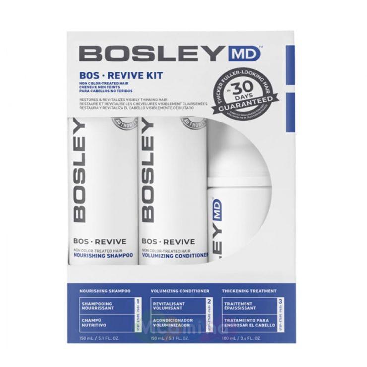 BOSLEY MD Набор для неокрашенных волос от выпадения и для стимуляции роста (ШАМПУНЬ, КОНДИЦИОНЕР, УХОД) BOSRevive Starter Pack For Non Color-Treated Hair