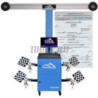 Поверка устройства и стенда для измерений и регулировки углов установки колес автомобилей