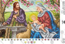 Virena А4Р_049 Мадонна в Саду схема для вышивки бисером купить оптом в магазине Золотая Игла