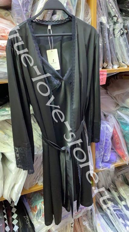 50627-1- Цена за 2 шт, Ажурная ночная сорочка и халат