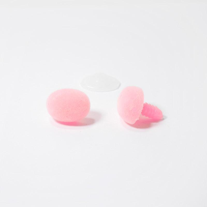 Носик винтовой бархатный 18х13мм овальный розовый