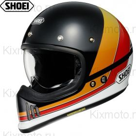 Шлем Shoei EX-Zero Equation, Черно-красно-желтый