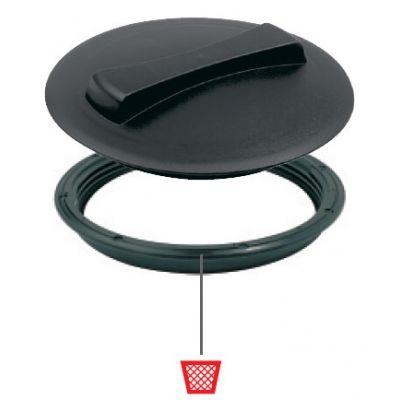Крышка для емкости D250мм резьбовая без дыхательного клапана пластик Италия