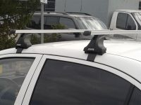 Багажник на крышу Audi A6 IV (C7) 2011-2018, Атлант, прямоугольные дуги, опора Е