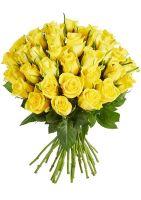 Роза Кения желтая 40см от 11 шт
