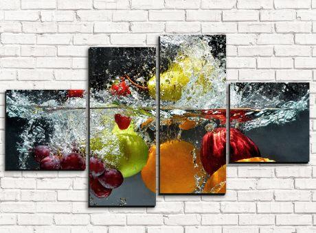 Модульная картина Брызги фруктов