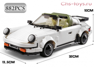 Конструктор MOULD KING Technic Creative Idea Спортивный автомобиль White Porsche 13103 882 дет