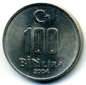 Турция 100000 лир 2004