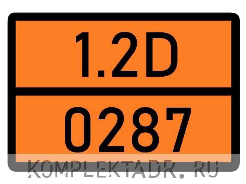 Табличка 1.2D-0287