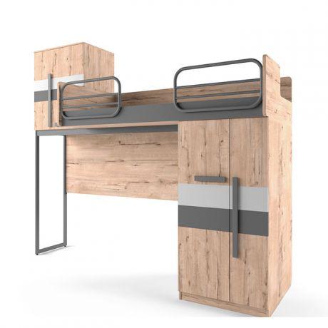 Кровать верхняя левая без лесенки шкаф